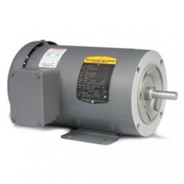 Baldor Electric CM3537 1/2 Hp, 3600 Rpm, 56C FR, 230/460 Vac, 3 PH, C-Face, TEFC, Foot Mounted, General Purpose Motor
