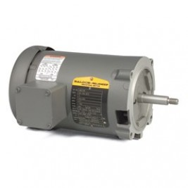 Baldor Electric JM3108 1/2 Hp, 1800 Rpm,  56J Fr, 230/460 Vac, 3 Ph, ODP, Stainless Steel Threaded Shaft, Footless,Pump Motor