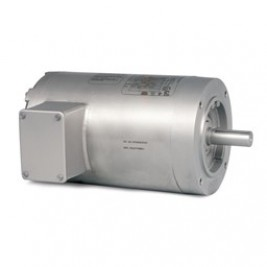 VSSEWDM3546, 1 Hp, 1800 Rpm, 56C FR, 230/460 Vac, 3 PH, TENV, C-Face Less Base, Washdown Duty Motor, Stainless Steel, Super-E