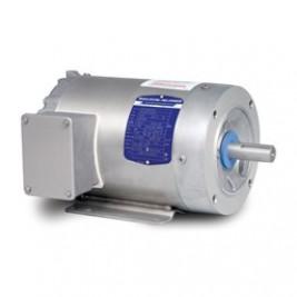 Baldor Electric IDCSWDM3546T 1 Hp, 1800 Rpm, 143TC Fr, 208-230/460 Vac, 3 Ph,  TENV, C-Face, Foot Mounted, Paint Free inverter Rated Washdown Motor