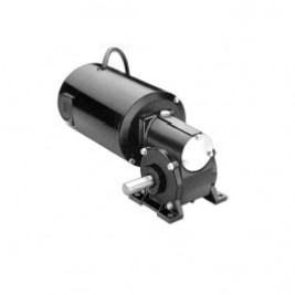 Bodine Electric N4537, 1/4 Hp, 83 Rpm, 30:1, 75 Lb-in., 42A5BEPM-5N, 130 Vdc., With accessory shaft, Permanent Magnet, Right Angle DC Gearmotor