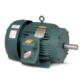 Baldor Electric ECP3764T, 3 Hp, 1200 Rpm, 213T FR, 230/460 Vac, 3 PH, TEFC, Foot Mounted, Super-E Severe Duty Motor