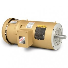 Baldor Electric VEBM3615T, 5 Hp, 1800 Rpm, 184TC FR, 230/460 Vac, 3 PH, TEFC, Footless, Super-E Premium Efficient Brake Motor,